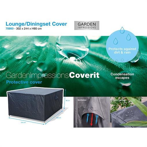 COVERIT lounge dining hoes 302x244xH80