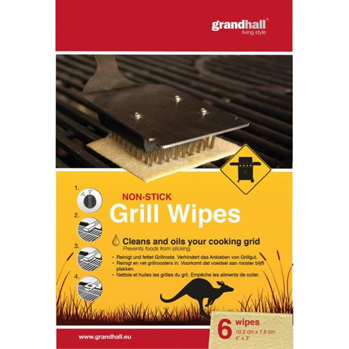 GRANDHALL Cooking Grid Non Stick Wipes 6pcs