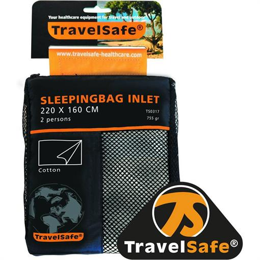 TRAVELSAFE Sl.bag inlet cotton 2 pers. ENVELOPE 2019